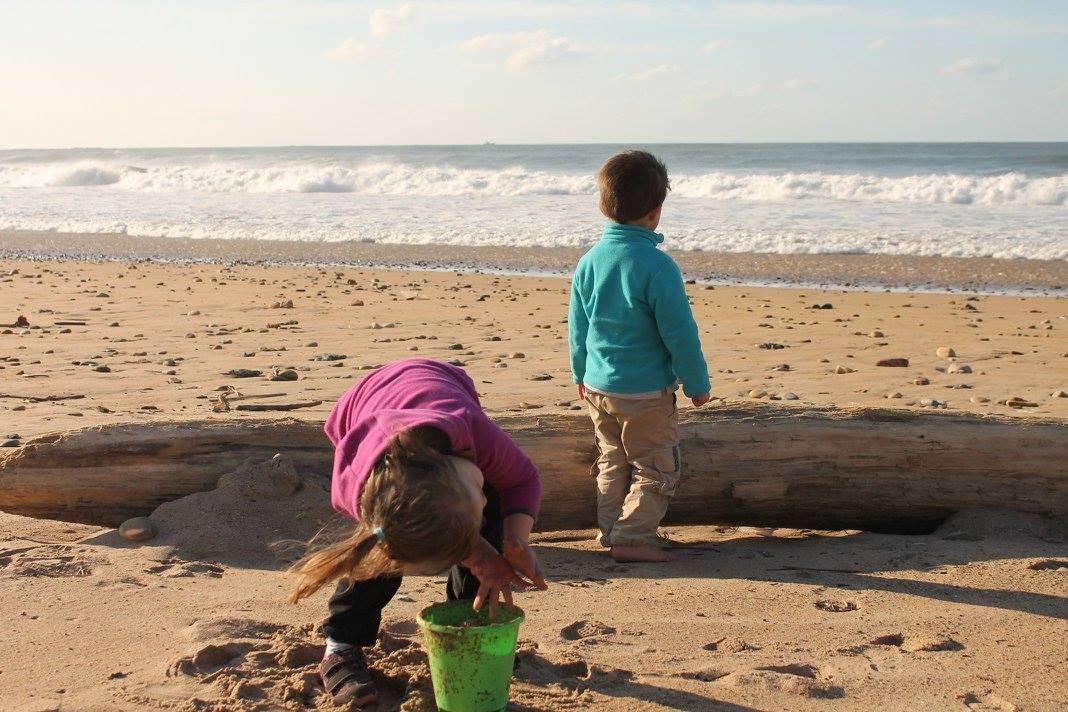 Aprendiendo en la playa