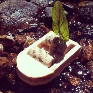 Barquito de madera artesano de nuestro amigo Rodri