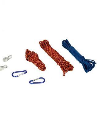 Juego de cuerdas y poleas
