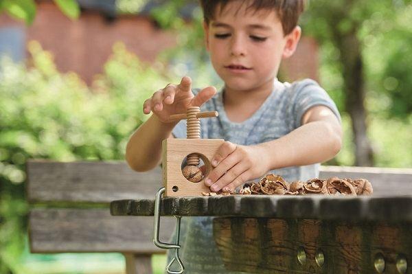 Mini-tornillo de banco nueces niños