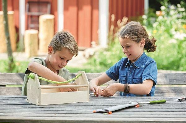 Caja de herramientas jugar niños