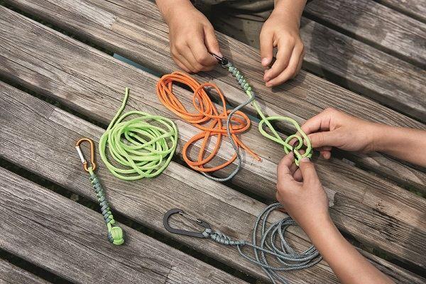 Juego cuerdas paracord niños