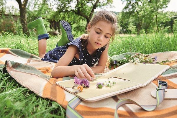 Prensa de plantas para niños