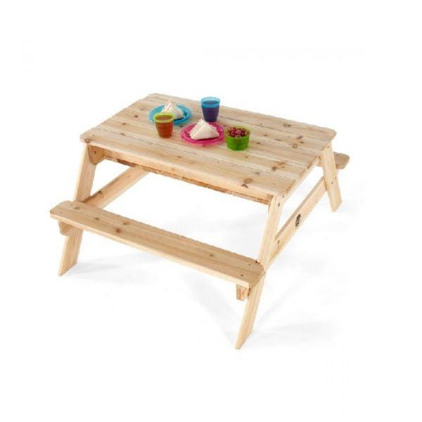 Mesa de picnic y sensorial con bancada