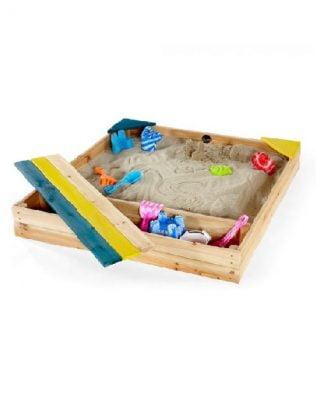 Arenero de madera con cajón de almacenamiento