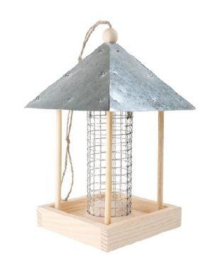 Casita comedero para aves
