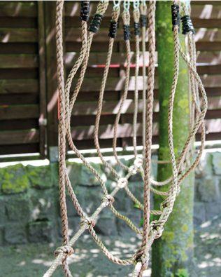 Puente de cuerdas para exteriores Legler