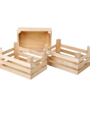 Set de 3 Cajas de madera natural – Grandes