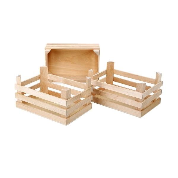 Cajas de madera natural grandes