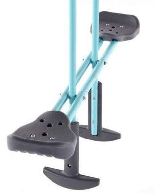 Columpio de metal con asiento individual, balancín y vaporizador de agua
