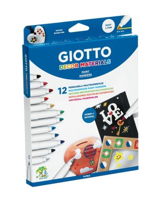 Rotuladores Giotto Decor Materials – Estuche de 12uds