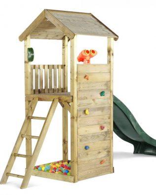 Torre de madera con tobogán Lookout