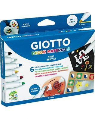 Rotuladores Giotto Decor Materials – Estuche de 6uds