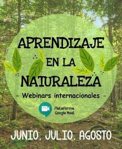 aprendizaje naturaleza webinars internacionales