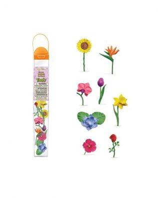 Tubo 8 miniaturas de flores. Safari