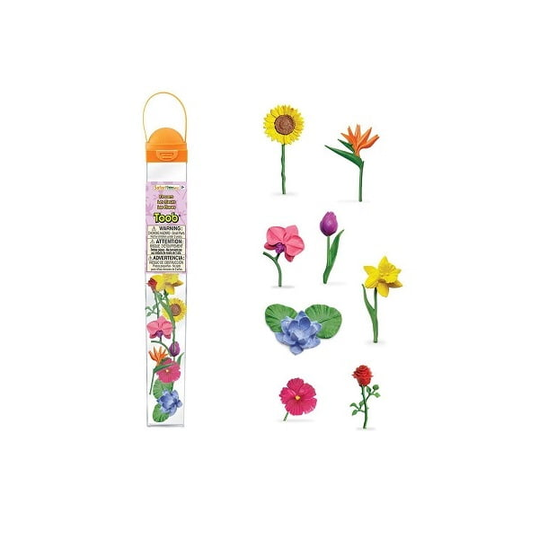 Tubo figuras flores miniatura Safari