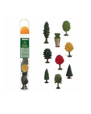 Tubo 9 miniaturas de árboles. Safari