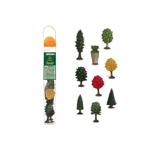 Tubo miniaturas árboles Safari