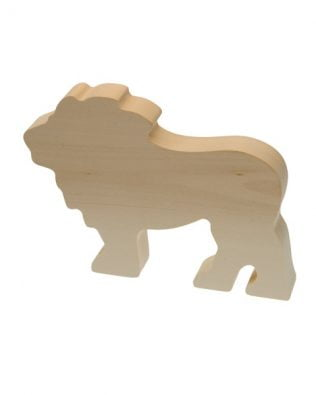 Figura de madera de tilo para tallar – León – Kids at work