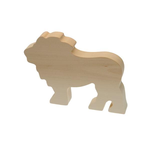 Figura madera tilo leon niños