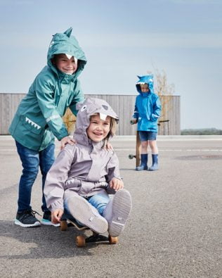 Chaquetas impermeables de Animales Color Kids