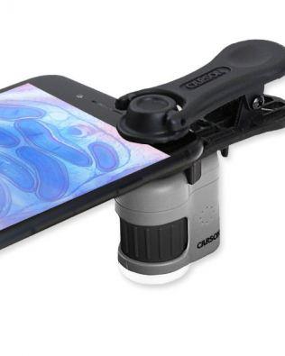 Microscopio de bolsillo 20x con clip para Smartphone – MICROMINI – Carson®