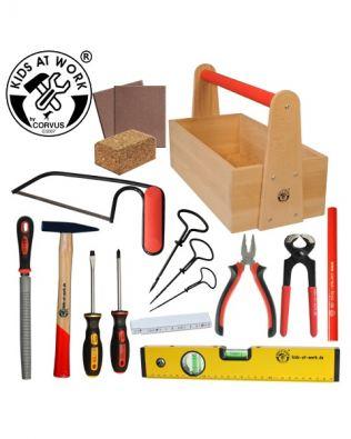 Set completo de herramientas infantiles – Kids at Work