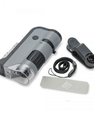 Microscopio de bolsillo 250x con clip para Smartphone – MICROFLIP – Carson®