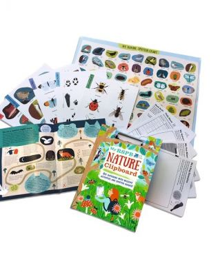 Nature clipboard. Get outdoors with wildlife activities and spotter guides!