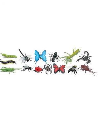 Tubo 14 miniaturas de insectos y otros invertebrados. Safari
