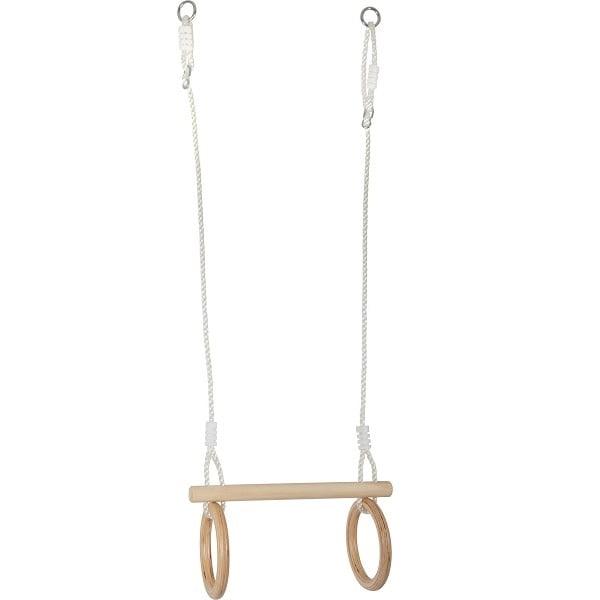 trapecio anillas madera