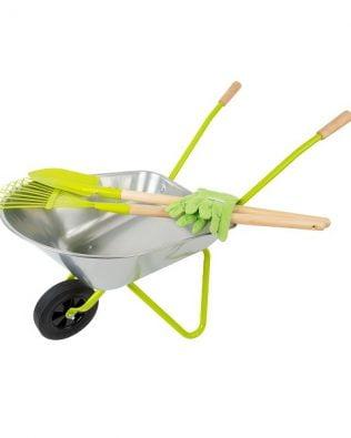 Conjunto de jardinería – Carretilla y herramientas