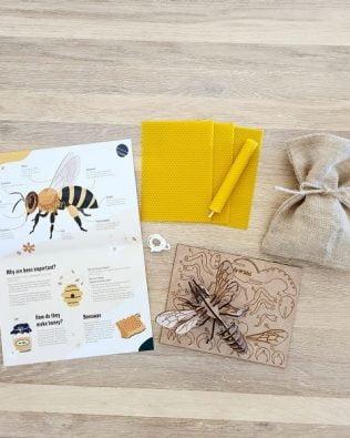 Kit para crear velas de panal y un puzle 3D de abeja – Lily & Mel